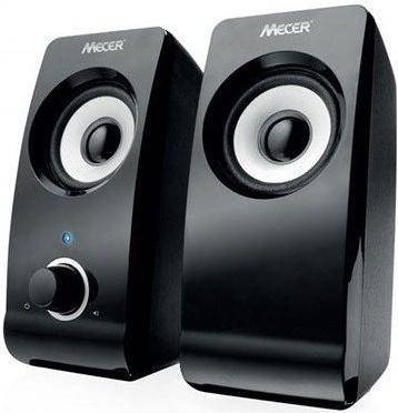 HY-2001 Mecer Black amplified Speaker (2 x 5W channel) - USB